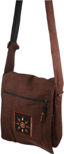 Schultertasche, Hippie Tasche, Goa Tasche / Schultertaschen Braun