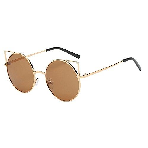 FRAUIT Damen Katzenaugen Sonnenbrillen Unisex Shades Acetat Rahmen UV Brille Freizeit Urlaub Sunglass Strand Eyewear Elegant
