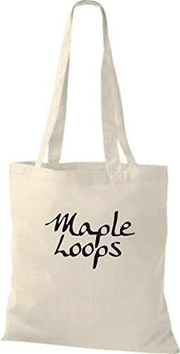 ShirtInStyle Jute Stoffbeutel TWO AND A HALF MEN MAPLE LOOPS, diverse Farbe, nature