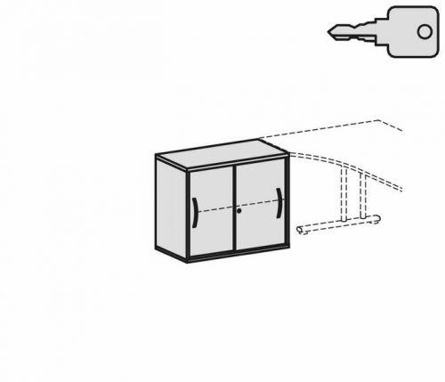 Gera Möbel Schranksystem Flex Anstell-Schiebetürenschrank, Holzdekor, Weiß/Weiß, 80 x 42.5 x 72...