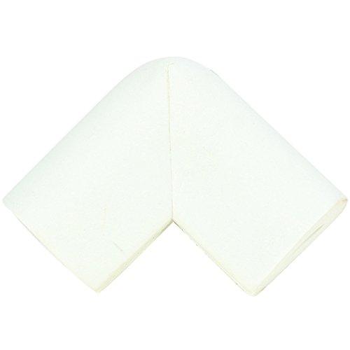 10 Stück Kantenschutz und Eckenschutz Baby Eckenschützer Weicher Stoßschutz für Tisch- und Möbel-Ecken Beige Kinderschutz (White)
