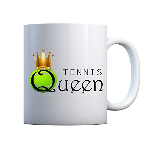 Tennis Queen Tasse Mug Cup White Ceramic 330ml Birthday Mug Gift For Family Friend Gift Cup 11oz Geschenk Tasse