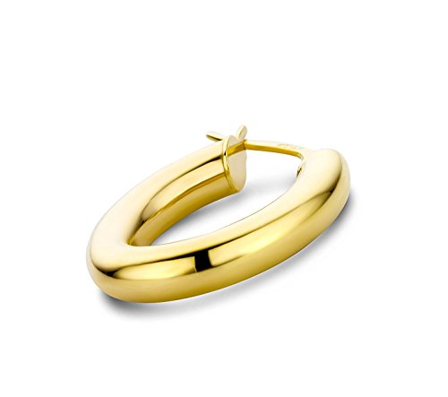 14 Karat 585 Gold Hochglanz Creolen Ohrringe Gelbgold - Breite 4 mm - Große Wählbar