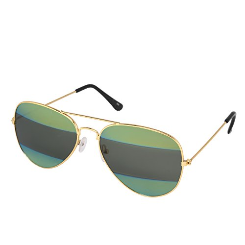Silver Kartz Black Green Label Gradient Aviator Sunglasses (wy221)