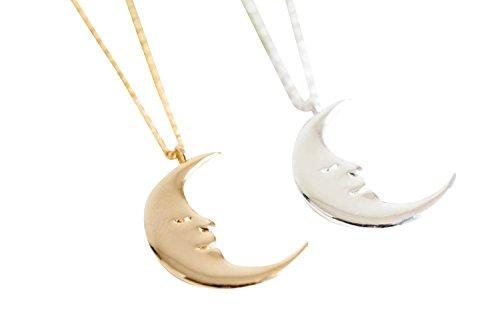 Planet Sideways Göttin Halb Sonne voll blaue Crescent Sailor Luna Moon Lächeln Mond-Anhänger-Charme-Ketten-Halskette Necklace für Frauen Mädchen Damen iu (Sonne Göttin Kostüme)