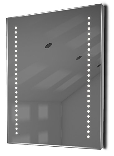 Illuminated Mirrors Diamond Ambient Ultra-Slim LED Bathroom Mirror with Demister and Sensor, White