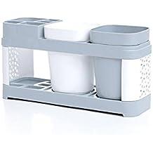 Nordic Style - Juego de vasos para cepillos de dientes, fácil de guardar, estante