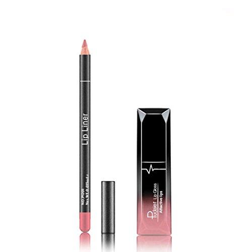 Xshuai pudaier Lipgloss Lipliner Set Langlebige Lippenstift Wasserdicht Matte Flüssige Lip Liner...