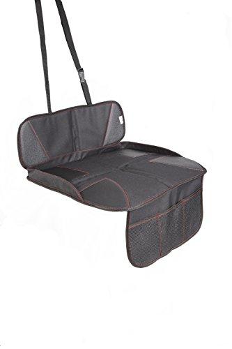 """Kindersitzunterlage """"SAFETY FIRST"""" von CARTATSTIC, Premium Autositzschoner aus PVC Leder – ISOFIX geeignet (Schwarz)"""