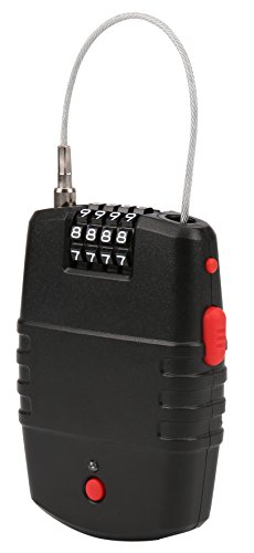 Mit Zahlenschloss Zahlen Großen (Olympia ULA 400 Kabelschloss (mit Alarmfunktion, 65cm Stahlseil, 90 dB Alarm, Universelles Draht-Seilschloss, mobiles Alarmschloss zum Aufrollen))