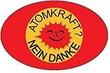 Atomkraft Nein Danke oval Autoaufkleber Rot Aufkleber - Lizenzprodukt