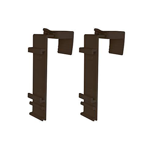 Victoria M. Klemmfix Soporte Estor Doble (fijación sin perforar) - Estor Duo Klemmfix, Hoja de Ventana 15-23 mm, Set 2 Piezas, marrón