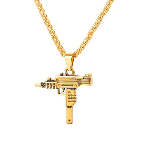 Halskette Für Männer Hip Hop Schmuck Gold Edelstahl Armee Stil Männliche Kette Halsketten ()