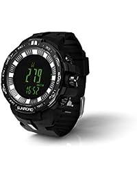 SUNROAD Deportes Al Aire Libre Pesca Barómetro Altimetro Digital Reloj De Hombre