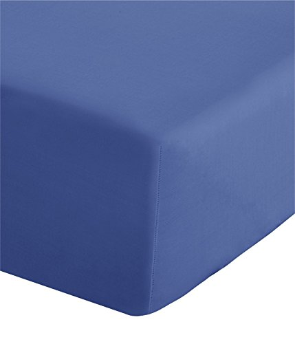 Catherine Lansfield Non Iron Percale Single Fitted Sheet - Cornflower