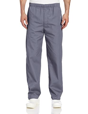 Landau Men's Elastic Drawstring Scrub Pant - Gray -