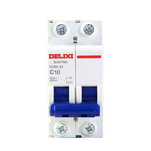 OIASD Schutzschalter HDBE-63 2P-Serie Kurzschlussschutz Beleuchtungssockel Typ C Household Air Switch 2P, 32A -