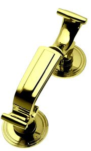Large Polished Brass Doctors Style Door Knocker (PB25B)