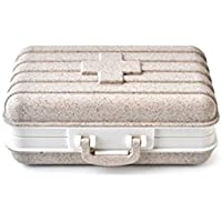Pillenetui, Mini-Medikamentenbox Koffer Gemacht aus Weizenfaser, Tablettenspender Caddy mit 6 Compartments, FDA-Zertifizierung... preisvergleich bei billige-tabletten.eu
