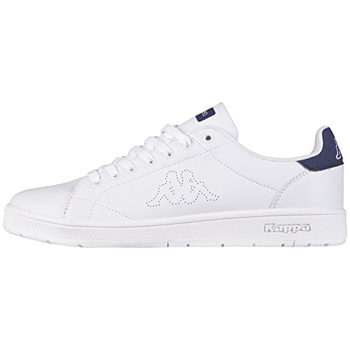Kappa Court, Baskets Basses Mixte Adulte, Blanc (1067 White/Navy), 36 EU