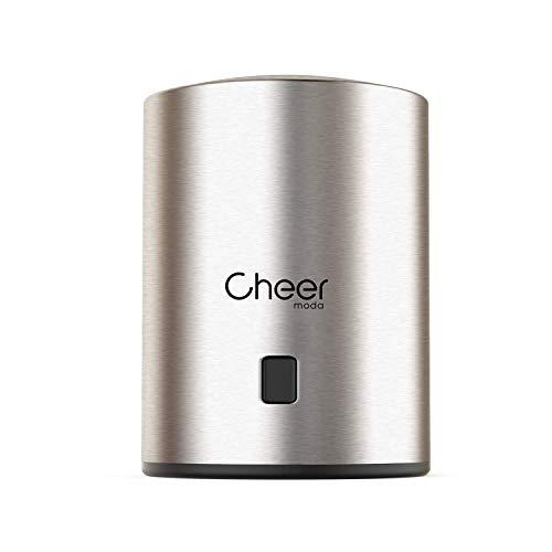 All In One-edelstahl-kühlschrank (Weinflaschenverschluss All in One Weinflaschenverschluss Vakuumpumpe und Weinflaschenverschluss mit Datumsanzeige zum Entfernen von Luft und Vakuum 7717-W401-01)