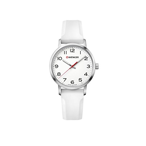 WENGER Reloj Analogico para Unisex de Cuarzo con Correa en Silicona Sport Avenue 01.1621.106