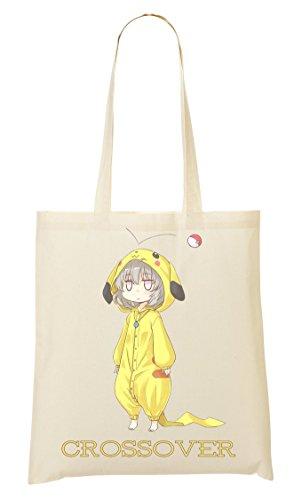 Pikachu | Crossover Anime | Pokemon Ball | Pokemon Go | Popular Girl | Cool T Shirt | Super | Nice To | Yolo Swag Tragetasche Einkaufstasche (Bio-baumwolle Crossover)