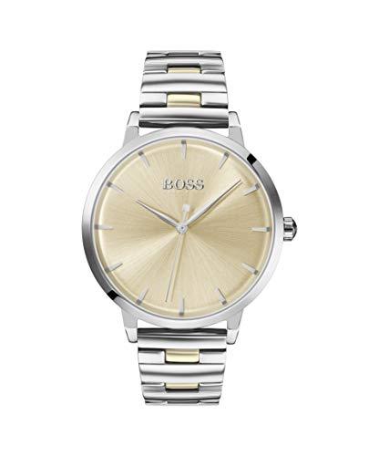 Hugo BOSS Damen Analog Quarz Uhr mit Edelstahl Armband 1502500 - Uhren Movado Damen