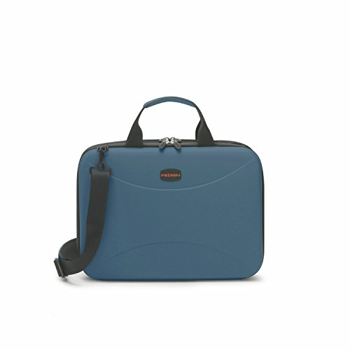 Fedon 1919 Tech Bag XL Cambridge Light Blue Premium Aktentasche 13' Laptop Notebook MacBook Tasche Blau (Aktentasche Cambridge)