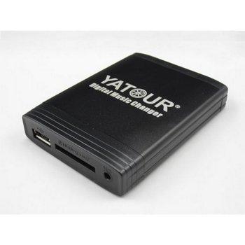 Yatour - Cargador digital de MP3 con cable USB (Renault: Avantime, Clio, Espace, Kangoo, Laguna, Megane, Scenic,Traffic, Twingo, Modus, Velsatis, con radios Tuner List, Update List, Carminat 2+, Carminat Bluetooth CD (se debe activar el cambiador de CD), Cabasse Auditorium (sin cambiador de CD), VDO Daytona MS4100, 4150RS, 4200 (RS) Bluetooth, manos libres)