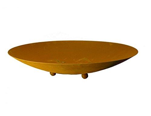 Metallmichl Edelrost Runde Rostschale Durchmesser 49,5 cm Pflanztiefe 9 cm, Pflanzschale aus Rost Metall Auch als Feuerschale nutzbar