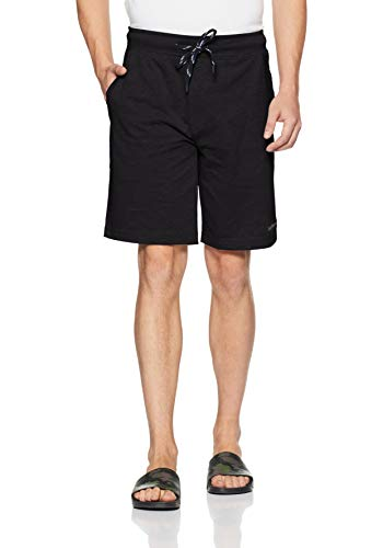 Van Heusen Athleisure Athleisure Men's Relaxed Cotton Shorts (50001_Charcoal_Large)