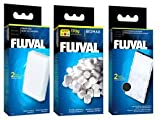 Fluval U2 Filter Set - Foam pads, Poly Carbon cartridges, and Biomax !70g