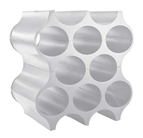 koziol Flaschenregal  Set-Up,  Kunststoff, solid cool grey, 23 x 35.3 x 36.4 cm -