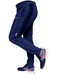 HEADGEAR Men's Slim Fit Trackpants (BrnSlvrDot_Blue_Large)