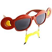 Horror-Shop Schwarze Herz Sonnenbrille mit Glitzerrand jdZMAdxwW