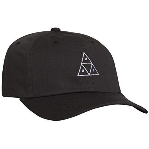 HUF Triple Triangle Baseball Cap mit gebogenem Visier - Schwarz - Einstellbar