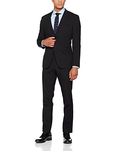 ESPRIT Collection Herren Anzugjacke 996EO2G907, Schwarz (Black 001), 48 (Schwarze Anzug Wolle)