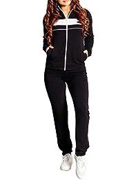 Juleya Donna Tuta Sportiva Abbigliamento Sportivo 2 Pezzi Vestiti Set  Pullover a Maniche Lunghe + Pantaloni f92b0fca369
