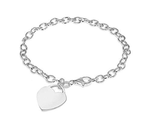 Tuscany Silver Damen - Armband Sterling-Silber 925 Rundschliff einfach 8.24.6602