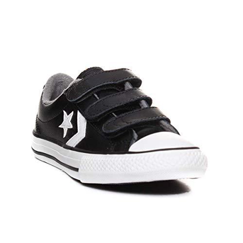 Converse Unisex-Kinder Star Player 3v Fitnessschuhe, Mehrfarbig (Black/Mason/Vintage White 001), 33 EU