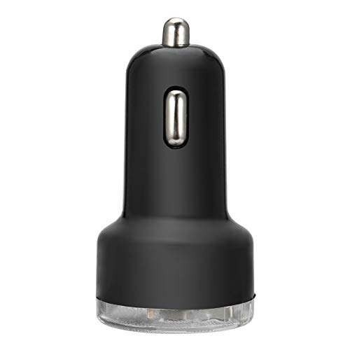 VCB Portable Dual 2 Port Universal USB Kfz-Ladegerät Adapter für iPhone - Schwarz Schwarz Dual Usb