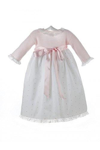 Isabel Maria - Faldón para bebé con el cuerpo tejido en punto...