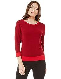Damen langärmlig zum Schnüren bauchfreies Top Bluse Pullover abgeschnitten