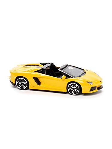 Automobili Lamborghini Unisex 1:43 Scale Aventador Roadster By Bburago One Size Yellow