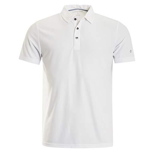 Über Golf-t-shirt (Calvin Klein Herren Classic Central Polo Golf-T-Shirt, weiß, Groß)