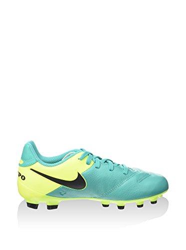Nike Jr Tiempo Legend VI FG Scarpe da Calcio Allenamento, Unisex Bambini Turchese/Lime