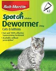 Spot On Dewormer For Cats 2 Tube Bulk Deal of 10