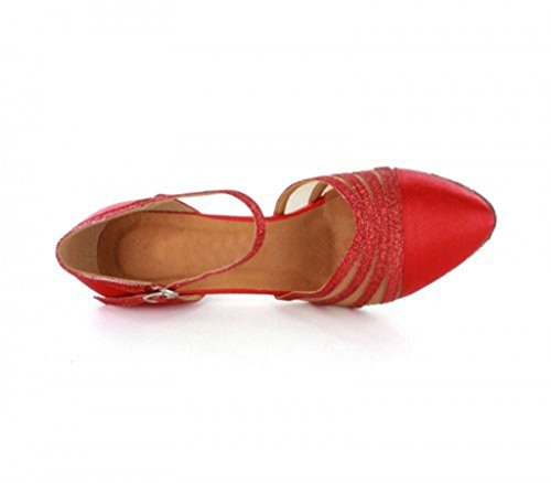 TDA ,  Damen Tanzschuhe 6cm Red