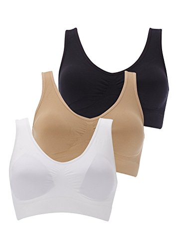 Boolavard Set Of 3 Comfort and Sports Bra